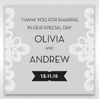 Silver/Gray Elagant Laser Cut Wrap - Gift Tags - Wedding Stationery - 84