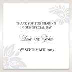 White Black Laser Cut Wrap with Ribbon - Gift Tags - Wedding Stationery - 93