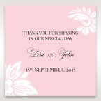 Pink Laser Cut Floral Half Pocket  - Gift Tags - Wedding Stationery - 97