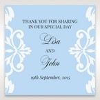 Blue Classy Laser Cut with White Bow - Gift Tags - Wedding Stationery - 99