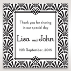 Black Dazzling Silver Foil Stamped - Gift Tags - Wedding Stationery - 19