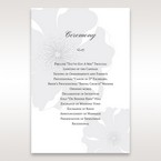 Silver/Gray Twinkling Rose - Order of Service - Wedding Stationery - 90