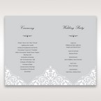 Silver/Gray Jeweled Romance Laser Cut - Order of Service - Wedding Stationery - 53