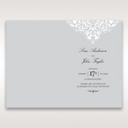 Silver/Gray Jeweled Romance Laser Cut - Order of Service - Wedding Stationery - 54