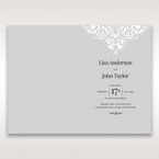 Silver/Gray Jeweled White Lasercut Pocket - Order of Service - Wedding Stationery - 72