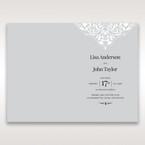 Silver/Gray Jeweled White Lasercut Pocket - Order of Service - Wedding Stationery - 72