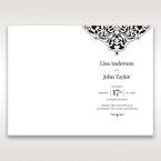 White Jeweled Romance Black Lasercut Pocket - Order of Service - Wedding Stationery - 82