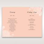 Pink Rustic Garden Laser Cut Pocket - Order of Service - Wedding Stationery - 95