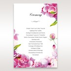 Purple Laser Cut Frame Pocket - Order of Service - Wedding Stationery - 47