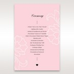 Pink Floral Laser Cut with Embossing - Order of Service - Wedding Stationery - 50
