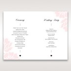 Pink Floral Laser Cut with Embossing - Order of Service - Wedding Stationery - 9