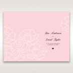 Pink Floral Laser Cut with Embossing - Order of Service - Wedding Stationery - 10