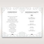 Silver/Gray Elagant Laser Cut Wrap - Order of Service - Wedding Stationery - 17