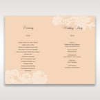 Beige White Laser Cut Wrap with Ribbon - Order of Service - Wedding Stationery - 27