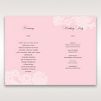 Pink Laser Cut Floral Half Pocket - Order of Service - Wedding Stationery - 43