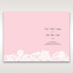 Pink Laser Cut Floral Half Pocket - Order of Service - Wedding Stationery - 44
