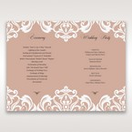 White Elegant Laser Cut Half Pocket with a Bow - Order of Service - Wedding Stationery - 63