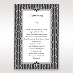 Yellow/Gold Dazzling Gold Foil Stamped - Order of Service - Wedding Stationery - 33