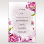 Purple Laser Cut Forest 3D Pocket - Order of Service - Wedding Stationery - 80