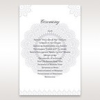 Blue Blue Elegance, Floral Couture - Order of Service - Wedding Stationery - 68