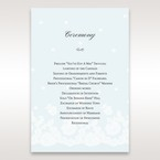 Brown Floral Couture in Blue & White - Order of Service - Wedding Stationery - 0