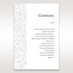 White Elegant Laser Cut - Order of Service - Wedding Stationery - 93