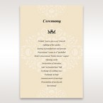 Yellow/Gold Jeweled Laser Cut - Order of Service - Wedding Stationery - 62