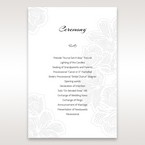 White Laser Cut Flower Frame - Order of Service - Wedding Stationery - 86