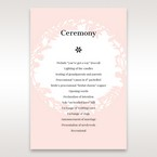 Pink Enchanted Forest I Laser Cut P - Order of Service - Wedding Stationery - 80