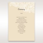 Yellow/Gold Laser Cut Floral Pocket - Order of Service - Wedding Stationery - 34