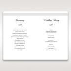 White Modern Pocket-Grey - Order of Service - Wedding Stationery - 72