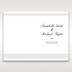 White Modern Pocket-Grey - Order of Service - Wedding Stationery - 73