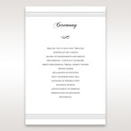 White Modern Pocket-Grey - Order of Service - Wedding Stationery - 92