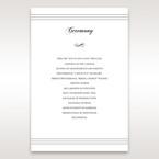 White Modern Pocket-Grey - Order of Service - Wedding Stationery - 92