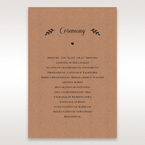 Brown Rustic - Order of Service - Wedding Stationery - 34