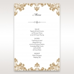 Golden Antique Pocket menu card DM11090