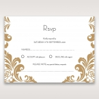 Golden Antique Pocket rsvp card DV11090