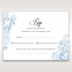 Graceful Wreath Pocket rsvp card DV11128