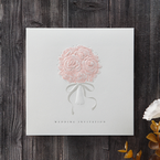 White Bouquet of Roses - Wedding invitation - 75