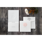 White Bouquet of Roses - Wedding invitation - 78
