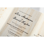 Brown Splendid Laser Cut Scenery - Wedding invitation - 36