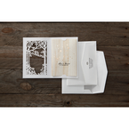 Brown Splendid Laser Cut Scenery - Wedding invitation - 46