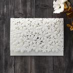 White Floral Cluster - Wedding invitation - 84