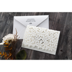 White Floral Cluster - Wedding invitation - 85