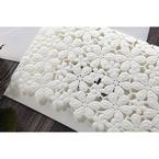White Floral Cluster - Wedding invitation - 86