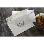 White Floral Cluster - Wedding invitation - 87