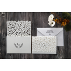 White Floral Cluster - Wedding invitation - 88
