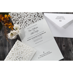 White Floral Cluster - Wedding invitation - 89