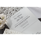 White Floral Cluster - Wedding invitation - 90
