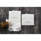 White Cascading Flowers - Wedding invitation - 2